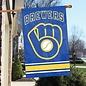 Milwaukee Brewers Applique Banner Flag-Ball and Glove Logo