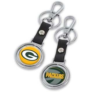 Aminco Green Bay Packers Black Encore Spinning Keychain