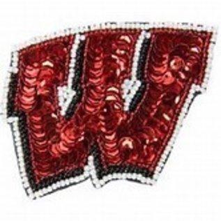 Wisconsin Badgers Sequin W Hair Clip