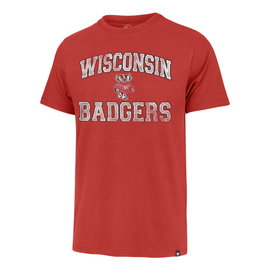 '47 Brand Wisconsin Badgers Men's Union Arch Franklin Short Sleeve Tee