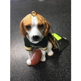 Green Bay Packers Beagle Ornament