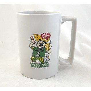Green Bay Packers 14oz #1 Cheesehead Fan Mug