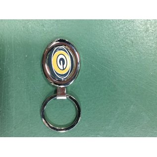 Green Bay Packers Silver Oval Keychain with G