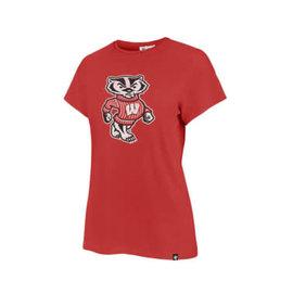 '47 Brand Wisconsin Badgers Women's Racer Red Premier Frankie Short Sleeve Shirt