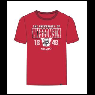 '47 Brand Wisconsin Badgers Men's Full Ride Franklin Short Sleeve Shirt