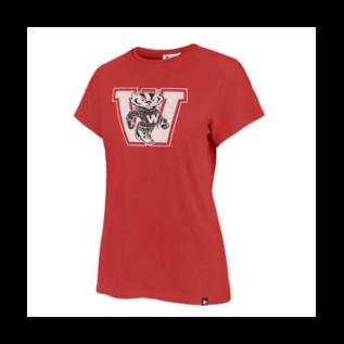 '47 Brand Wisconsin Badgers Women's Racer Red Vintage Premier Frankie Short Sleeve Shirt