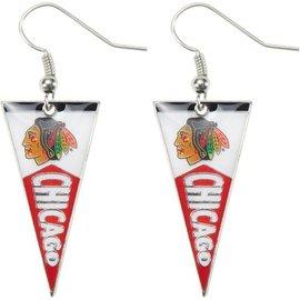 Chicago Blackhawks Pennant Earrings