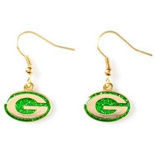 Green Bay Packers Glitter Dangle Earrings