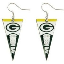 Green Bay Packers Pennant Dangle Earrings