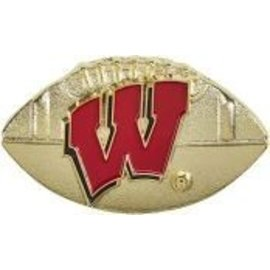 Wisconsin Badgers Gold Football Pin