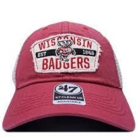 '47 Brand Wisconsin Badgers '47 Crawford Clean Up Adjustable Hat