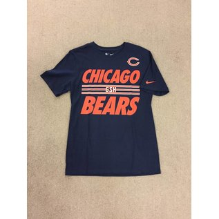 Nike Chicago Bears Men's Navy With Stripes On The Chest Short Sleeve Tee
