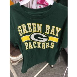 Green Bay Packers Youth Green Short Sleeve Tee with Crackle Print
