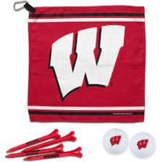 WinCraft, Inc. Wisconsin Badgers Golf Set with Waffle Towel