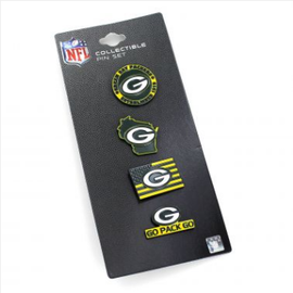 Green Bay Packers Team Pride 4 Pack Pin Set