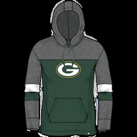 Fanatics Green Bay Packers Women's Iconic Cotton Fleece Colorblock Pullover Hoodie