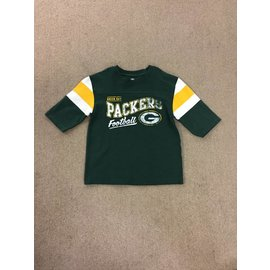 Green Bay Packers Toddler Green Stripe Sleeve Short Sleeve Tee