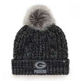 '47 Brand Green Bay Packers Women's Black Meeko Cuff Knit Hat