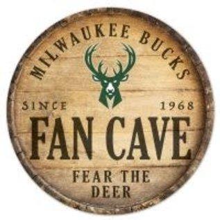 "WinCraft, Inc. Milwaukee Bucks 14"" Round Wood Sign"