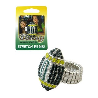 Green Bay Packers Football Rhinestone Ring
