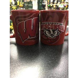 Wisconsin Badgers Red Wrap Logo Coffee Mug