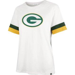'47 Brand Green Bay Packers Women's Sandstone Premier Frankie Short Sleeve Shirt