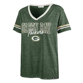 '47 Brand Green Bay Packers Women's Hollow Bling Piper Luxe Short Sleeve Tee