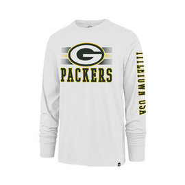 '47 Brand Green Bay Packers Men's Power Rush Rival Long Sleeve Tee