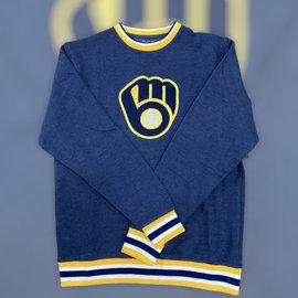 New Era Milwaukee Brewers Men's Navy Crewneck Sweatshirt