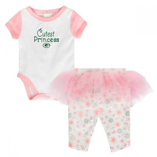 Outerstuff Green Bay Packers Infant Lil Princess 2 Pc Set