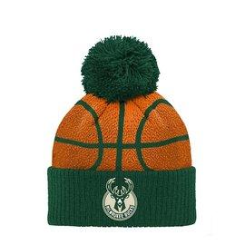 Outerstuff Milwaukee Bucks Youth B-ball Head Knit Hat