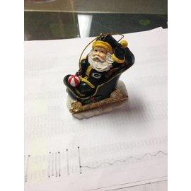 Green Bay Packers Santa Sleigh Ornament