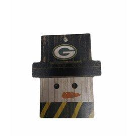 Fan Creations Green Bay Packers Snowman Ornament