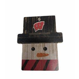 Fan Creations Wisconsin Badgers Snowman Ornament