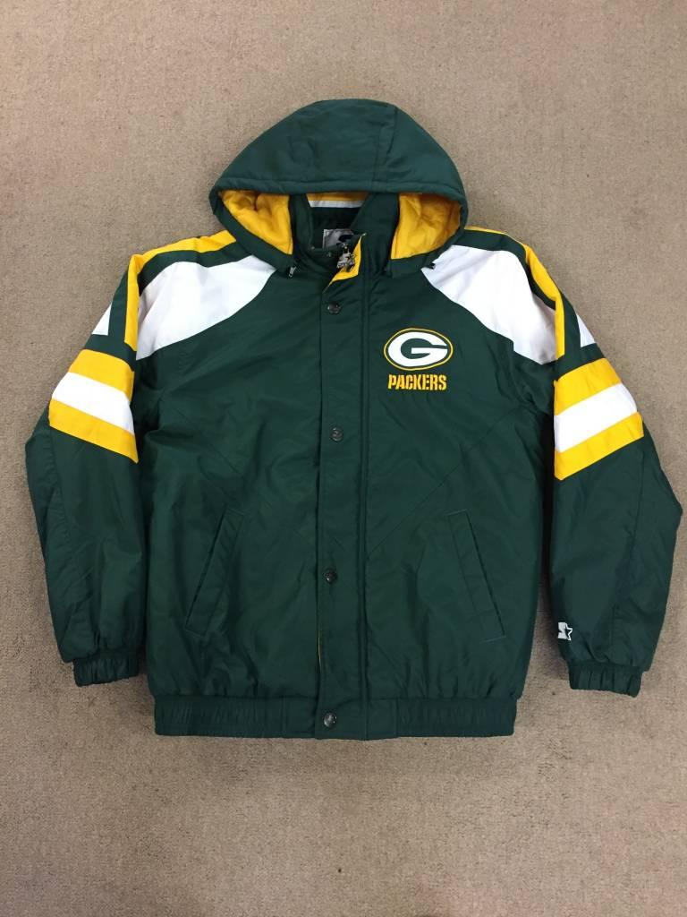 G III Green Bay Packers Men s Green Starter Jacket - Packerland Plus aa5fb0d66