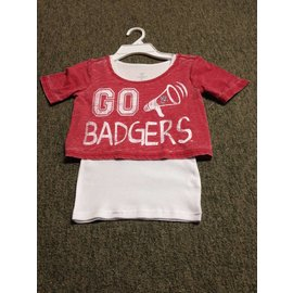 Wisconsin Badgers Youth  Girls Megaphone Short Sleeve Tee