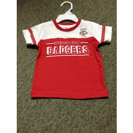 Wisconsin Badgers Infant Short Sleeve Tee with Arm Stripes