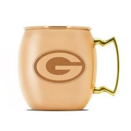 Duck House Green Bay Packers 16oz Copper Moscow Mule Mug