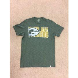 '47 Brand Green Bay Packers Men's Vintage Look Scrum Short Sleeve Tee