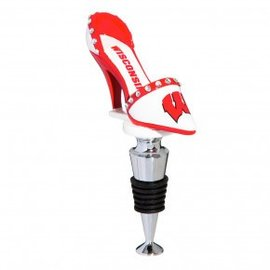 Wisconsin Badgers High Heel Bottle Stopper