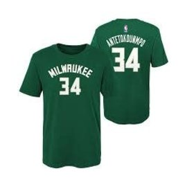 Outerstuff Milwaukee Bucks Youth Giannis Name & Number Tee