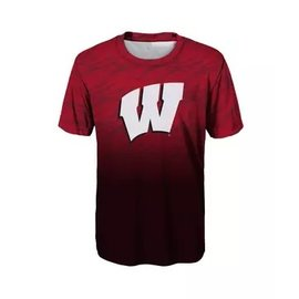 Outerstuff Wisconsin Badgers Youth Stadium Performance Short Sleeve Tee