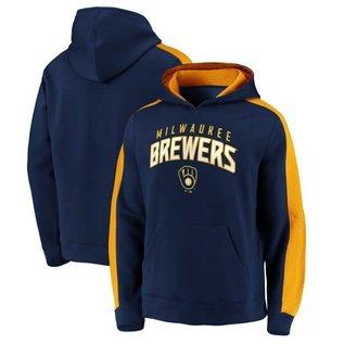 Fanatics Milwaukee Brewers Men's Gametime Arc Pullover Hoodie
