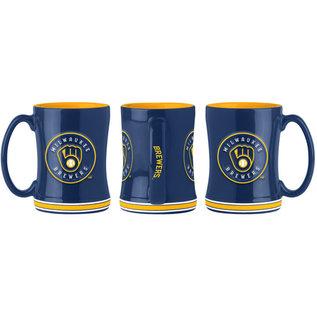 Boelter Brands LLC Milwaukee Brewers 14 oz Sculpted Relief Mug