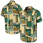 Forever Collectibles Green Bay Packers Men's Tiki Full Button Shirt