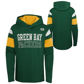 Outerstuff Green Bay Packers Youth All The Glory Long Sleeve Hoodie