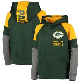 Outerstuff Green Bay Packers Youth Play Action Hoodie