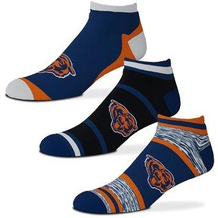 For Bare Feet Chicago Bears Men's Cash 3 Pack Of Socks Large