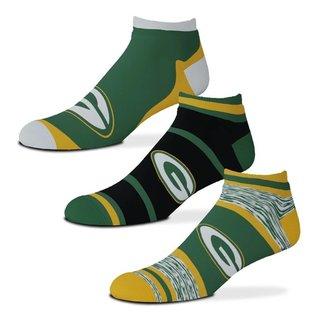 For Bare Feet Green Bay Packers Women's Cash 3 Pack Of Socks Medium