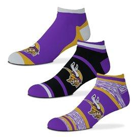 For Bare Feet Minnesota Vikings Men's Cash 3 Pack Of Socks Large